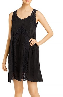 Johnny Was Eira Crochet Trim Dress