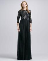 Alice + Olivia Robinson Lace & Chiffon Gown