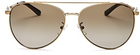 Tory Burch Women's Brow Bar Aviator Sunglasses, 58mm