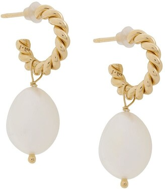 Isabel Lennse XS twisted loops with freshwater pearls