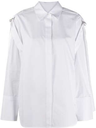 Helmut Lang Buckle Detail Long-Sleeved Shirt