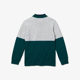 Lacoste Boys' Color-Blocked Cotton Pique Polo Shirt