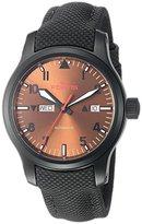 Fortis Men's 655.18.98 LP Aeromaster Dusk Analog Display Automatic Self Wind Black Watch