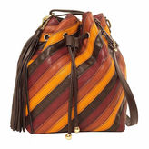 Imoshion Zola Striped Pieced Polyurethane Bucket Bag