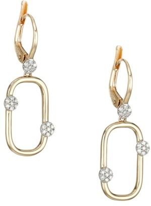 Phillips House Infinity 14K Yellow Gold & Diamond Box-Link Huggie Earrings