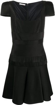 Prada Pre-Owned Ribbed Stripe Mini Dress
