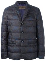 Etro floral motif padded jacket - men - Calf Leather/Polyamide/Goose Down/Duck Feathers - XL