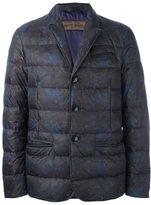 Etro floral motif padded jacket