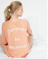 Express Champagne For Breakfast Henley Tunic