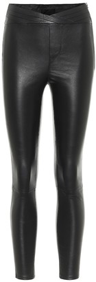 RtA Kyle high-rise leather leggings