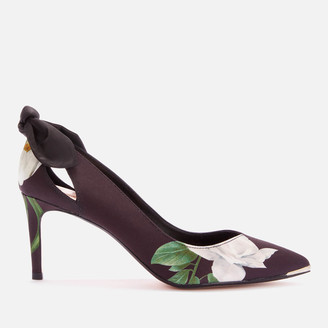 Ted Baker Women's Elaner Elderflower Mid Heel Court Shoes - Black