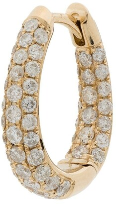 Jacquie Aiche 14kt yellow gold Inside Out diamond hoop earring