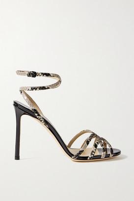 Jimmy Choo Mimi 100 Snake-effect Leather Sandals - Snake print
