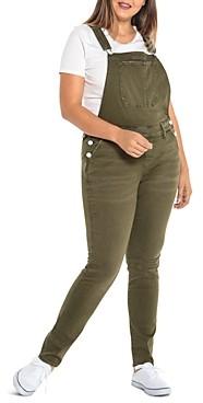 Slink Jeans Plus Slim-Leg Overalls