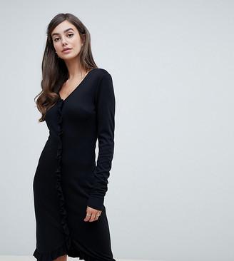 Y.A.S Tall Talotta ruffle front dress