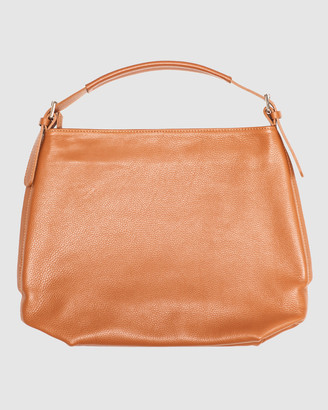 Marlafiji - Women's Brown Leather bags - Samantha Shoulder Bag - Size One Size, M at The Iconic