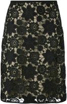 Odeeh crochet floral skirt - women - Cotton/Polyester/Polyurethane - 36