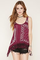 Forever 21 FOREVER 21+ Paisley Crochet Tassel Top