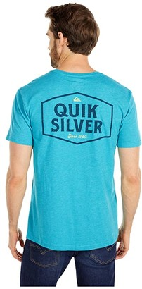 Quiksilver Empty Space Short Sleeve (Pagoda Blue Heather) Men's Clothing