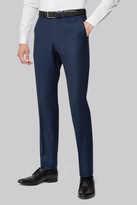 Hardy Amies Tailored Fit Navy Birdseye Trousers