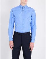 Lanvin Patchwork regular-fit cotton-blend shirt