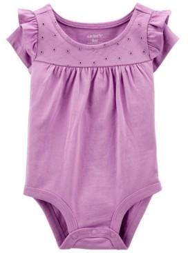 Carter's Baby Girl Eyelet Flutter Bodysuit