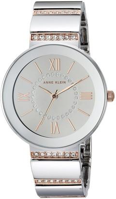 Anne Klein Women's AK/2947SMRT Swarovski Crystal Accented Two-Tone Bracelet Watch