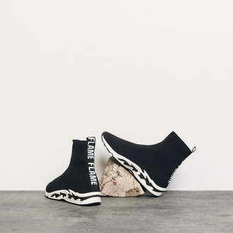 Sandro Sneakers With Flames On The Sole