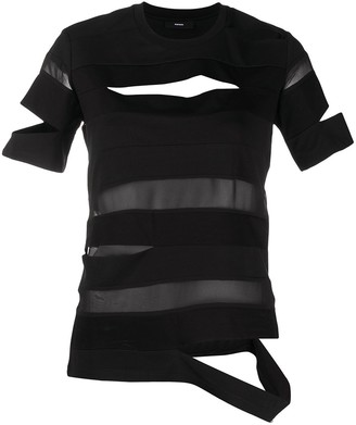 Diesel Semi-Sheer Cut-Out T-Shirt