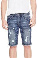 GUESS Men's Slim Destroyed Carpenter Denim Shorts