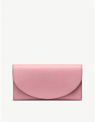 Smythson Panama Moon leather purse