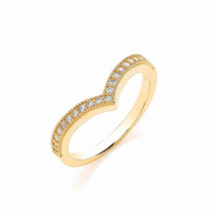 House of Fraser Bouton Gold wishbone ring
