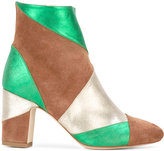 Polly Plume - Keywest ankle boots - women - Chamois Leather/Leather - 36