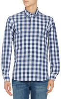 Black Brown 1826 Gingham Cotton Sportshirt