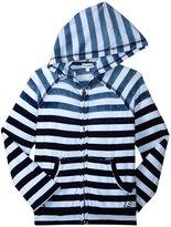 Splendid Indigo Striped Hoodie (Toddler/Kid) - Stripe - 7