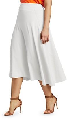 Joan Vass, Plus Size A-Line Midi Skirt