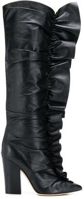 Sergio Rossi Ruffle Trim Boots