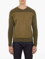 Valentino Khaki Military-style Sweater