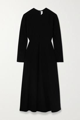 Victoria Beckham Cady Midi Dress - Black