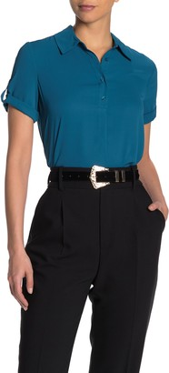 Pleione Short Sleeve Roll Tab Blouse