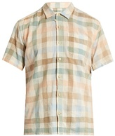 Oliver Spencer Hawaiian Checked Cotton-blend Shirt