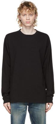 John Elliott Black Classic University Long Sleeve T-Shirt