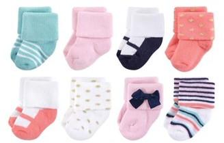 Little Treasures Terry Socks, 8pk (Baby Girls)