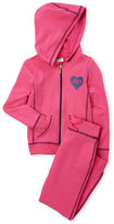 juicy couture (Girls 7-16) Two-Piece Logo Heart Hoodie & Jogger Pants Set