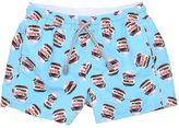 MC2 Saint Barth Nutella Printed Nylon Swim Shorts