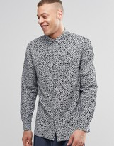 Weekday Royal Floral Print Shirt Long Sleeve