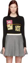 Miu Miu Black Intarsia Molecular Sweater