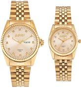 August Steiner Men's & Women's Diamond Stainless Steel Watch Set