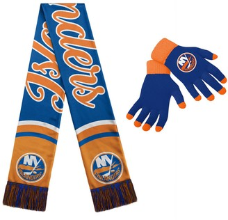 Women's New York Islanders Glove and Scarf Set