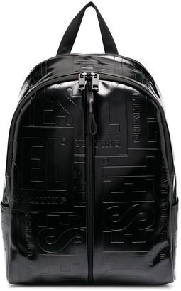 Diesel Logo Debossed Zipped Backpack